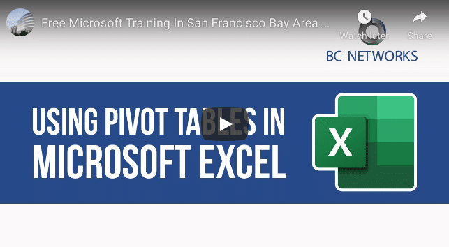 Microsoft Excel: Getting Started With Pivot Tables