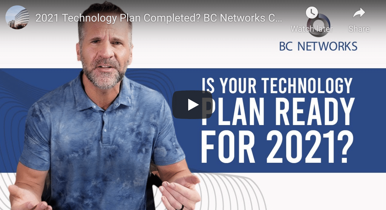 Is Your Technology Plan Ready For 2021?